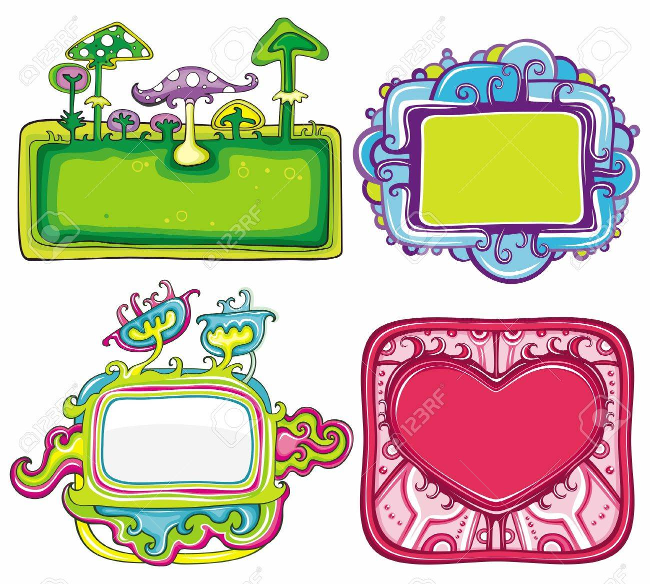 set of cute frames, with space for your text Stock Vector - 10919620