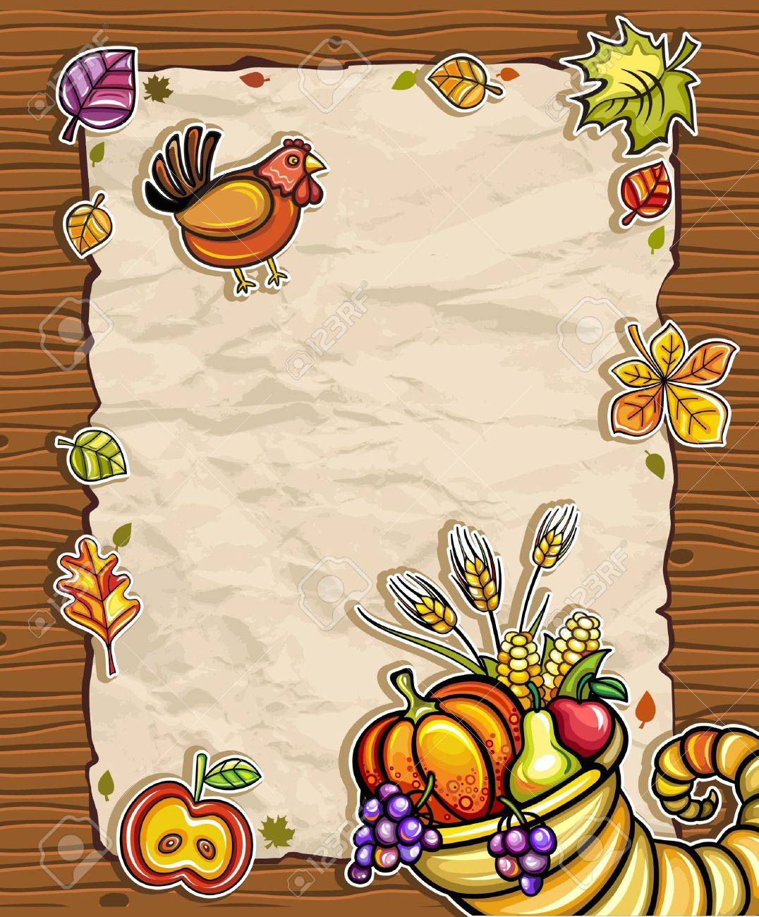 Thanksgiving paper arrangements 2 Stock Vector - 10919603