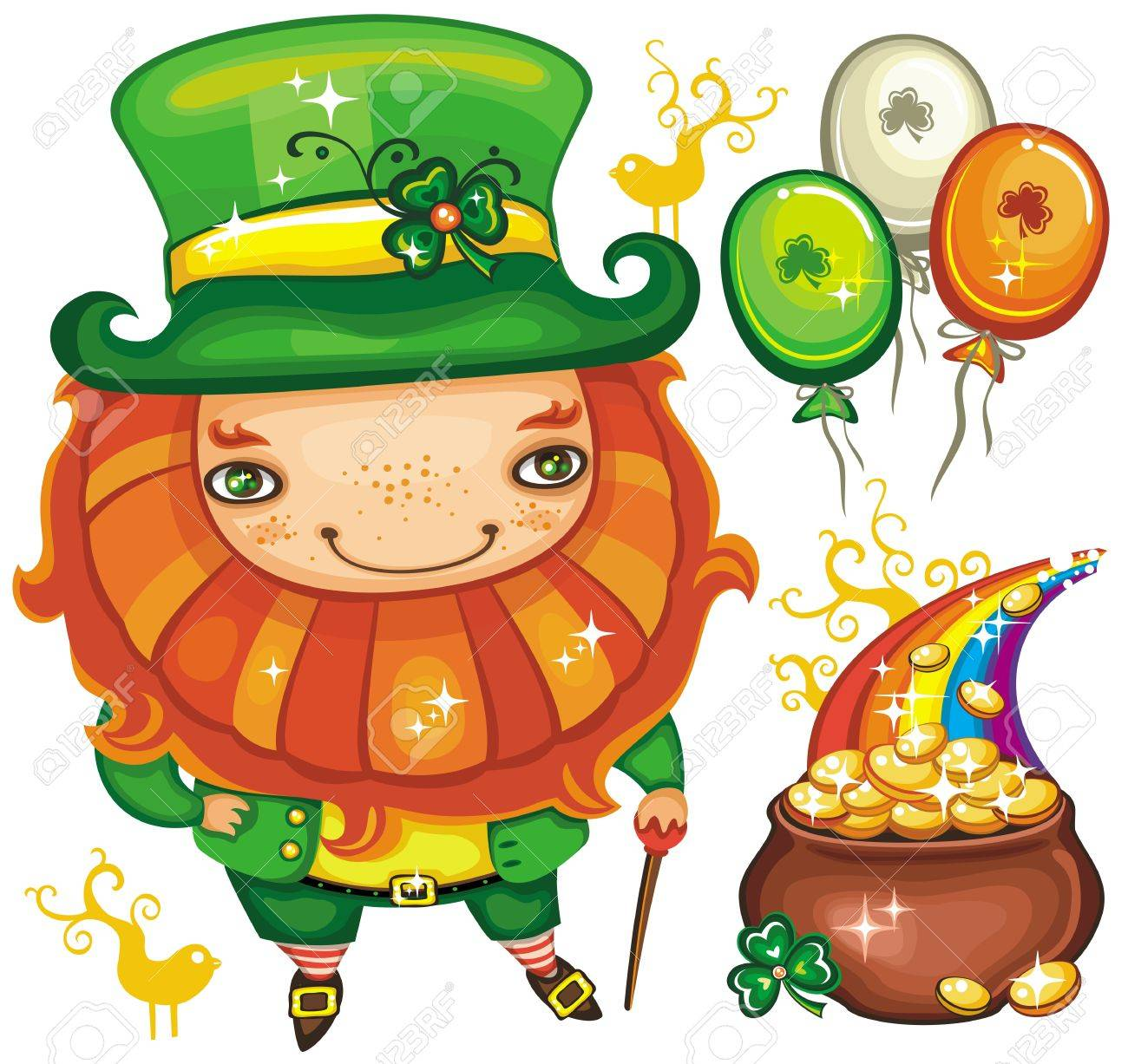 St. Patrick's Day set series Stock Vector - 12249720