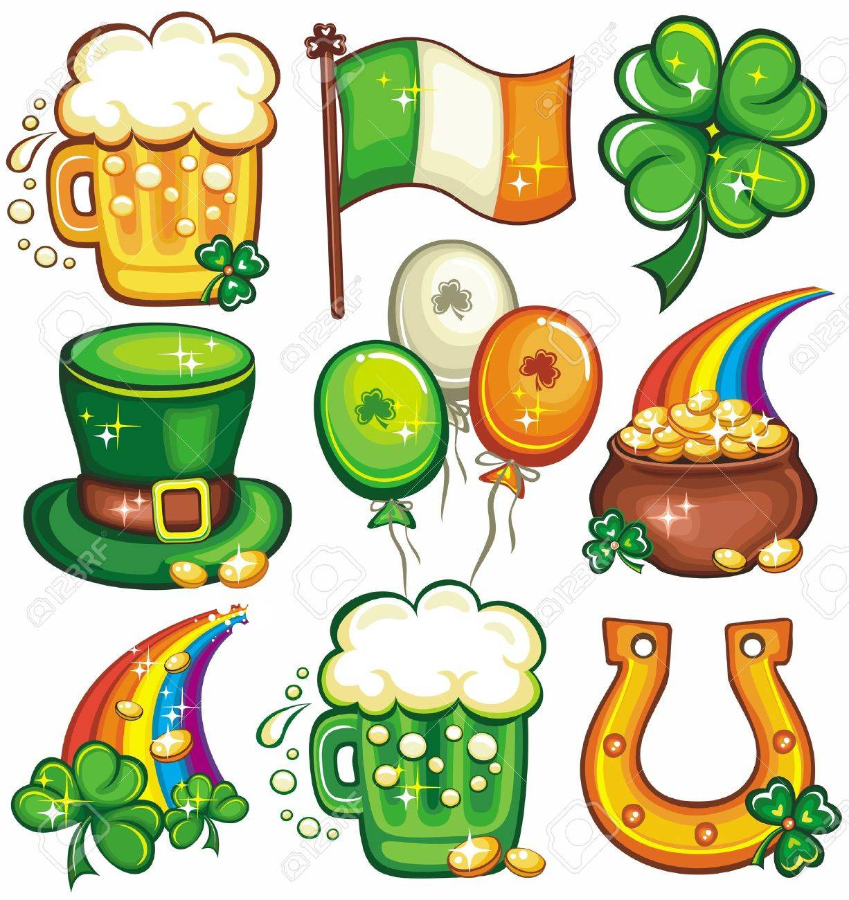 St. Patricks day icons Stock Vector - 12483747