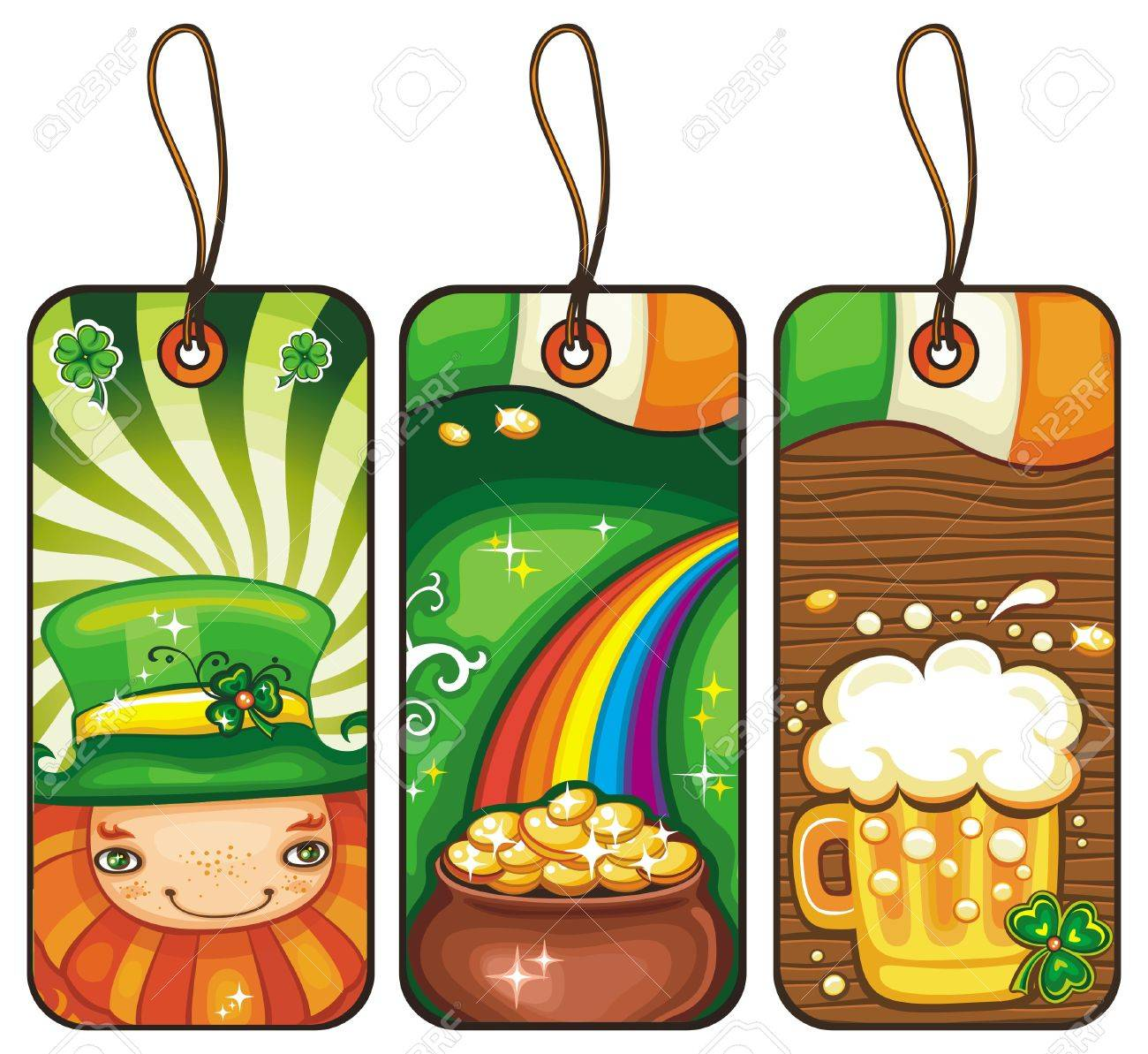 Price tags for the St  Patrick s Day part  2 Stock Vector - 12483759