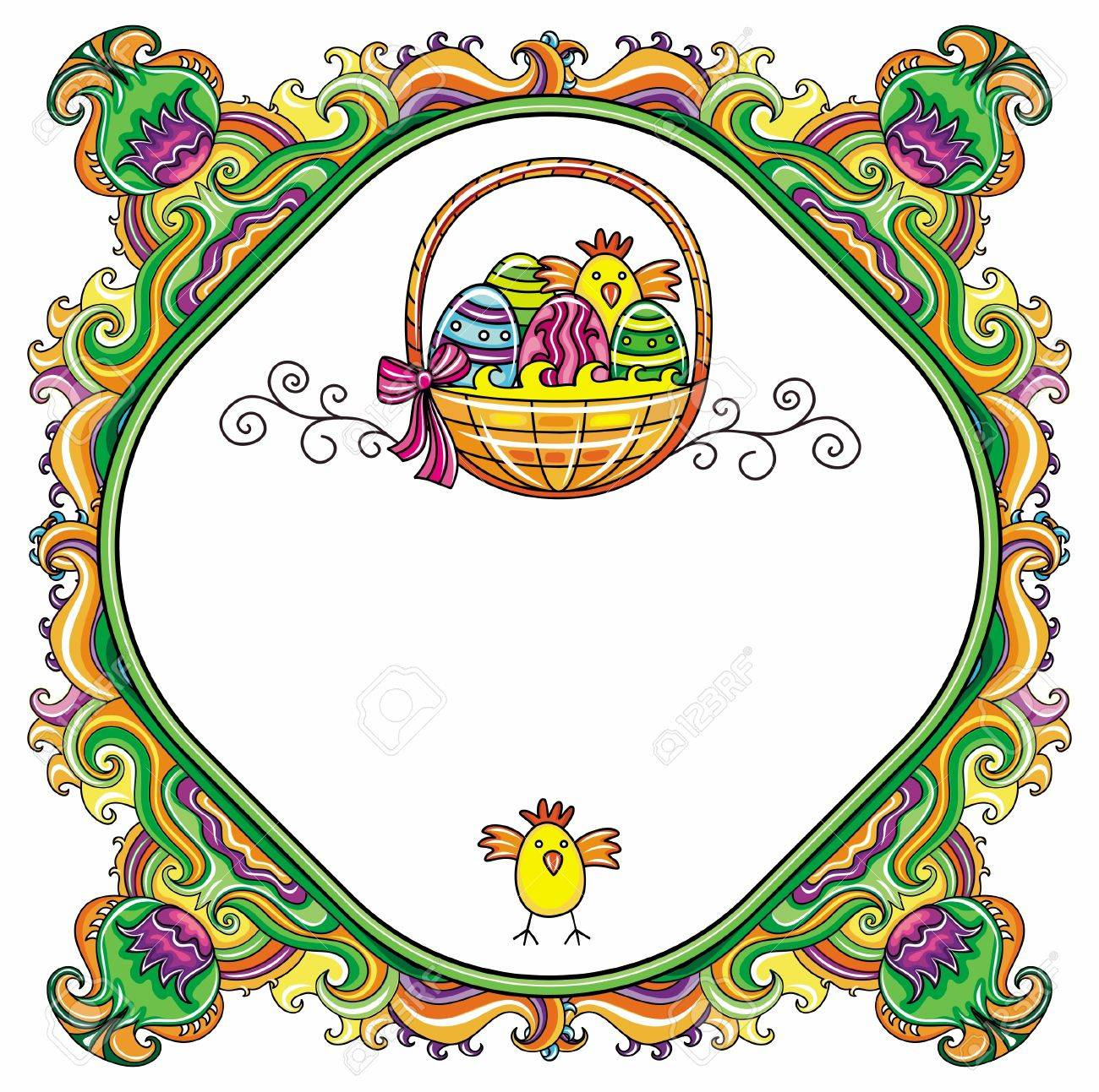 easter frame royalty free cliparts vectors and stock