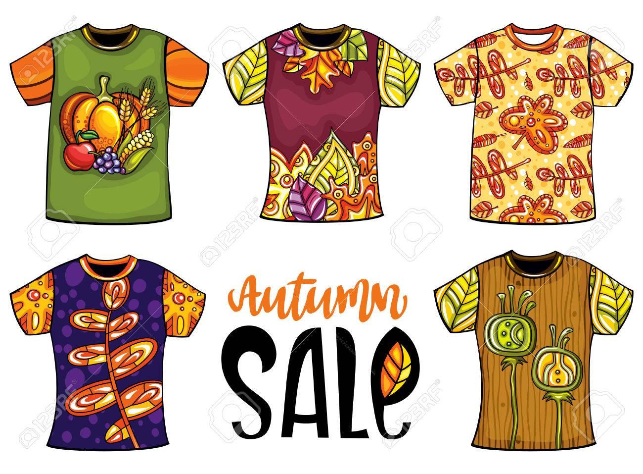 Conjunto De Plantillas De Colores Vector Camisetas Para Hombres Y