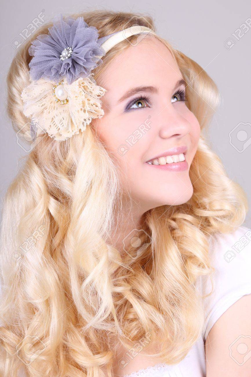 Happy girl with headbands in hippy style Stock Photo - 14010749
