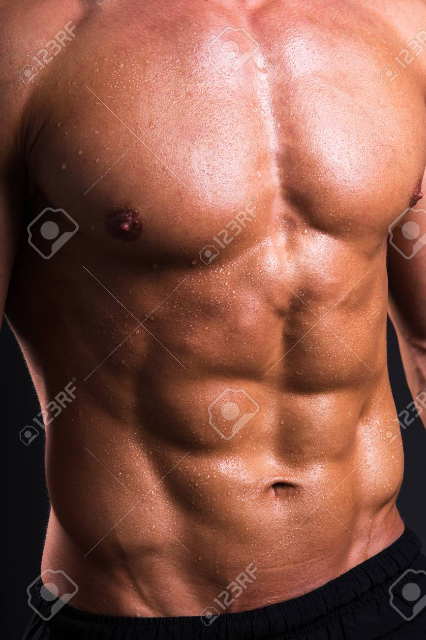 PhotoPicture Up Sexy Man Close Stock And Of Sweat Body Muscular JclTFK1
