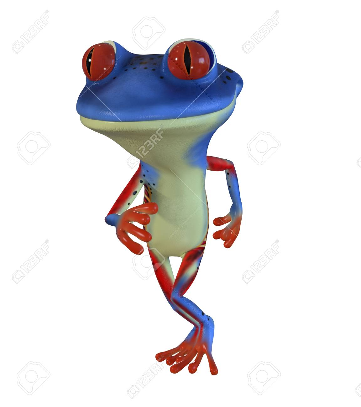 3d Illustration Of A Blue Cartoon Tree Frog Stock Photo Picture And Royalty Free Image Image 83381289 Tattoo design of a cartoon tree frog for a friend. 123rf com