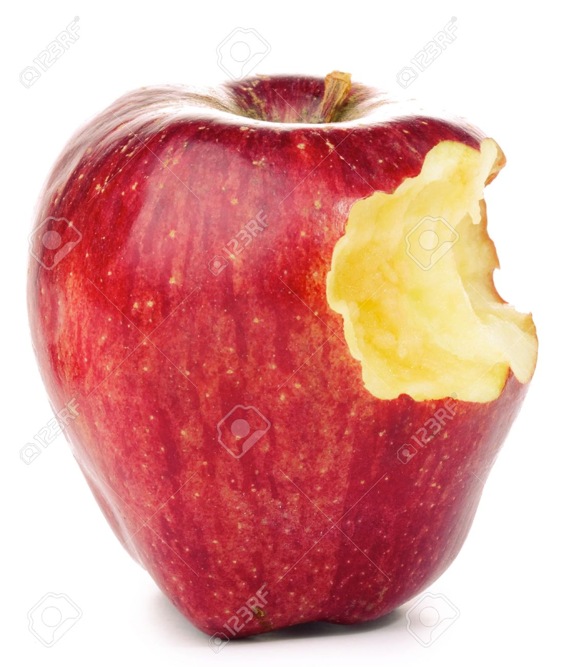Bitten Red Apple isolated on white Stock Photo - 10670835