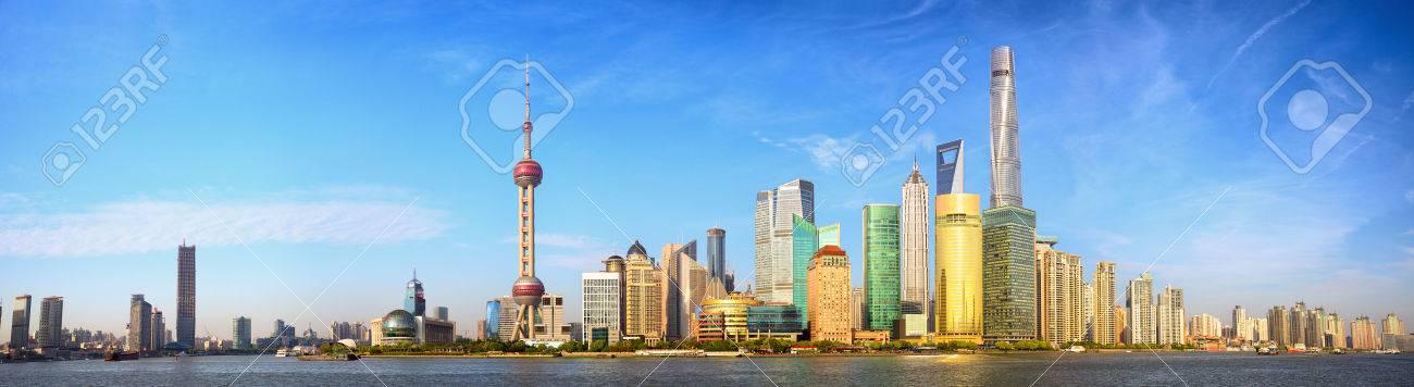 Shanghai skyline panorama China - 40801554
