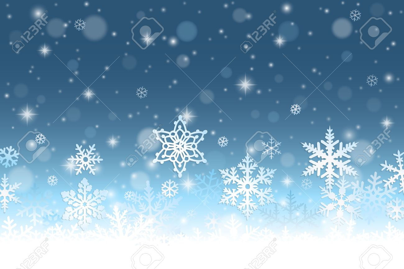 abstract winter background with snowflakes and snow royalty free