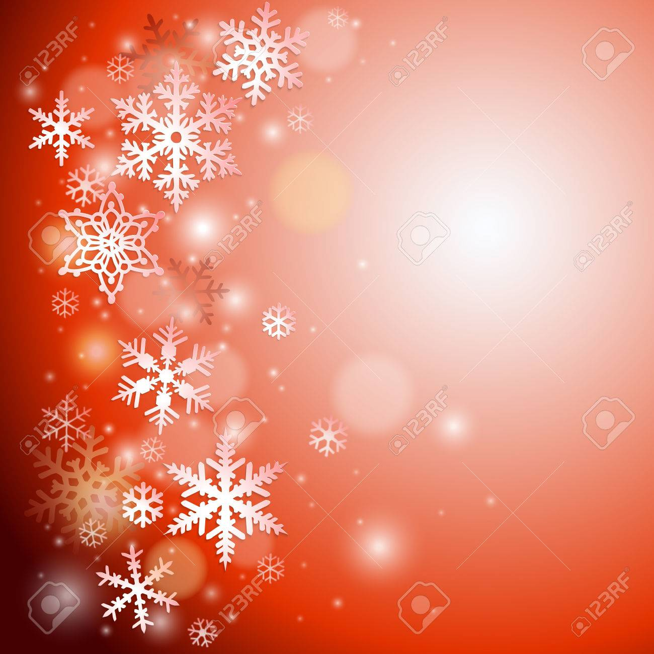 Christmas vector background with snowflakes - 48418324