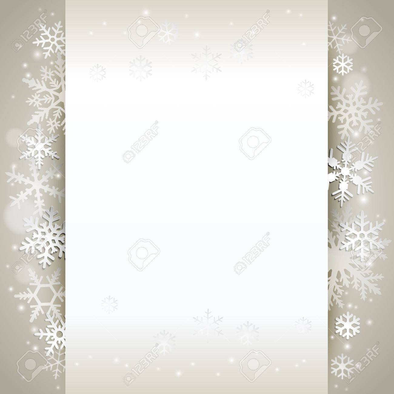Winter holiday background card with snowflakes - 48418322