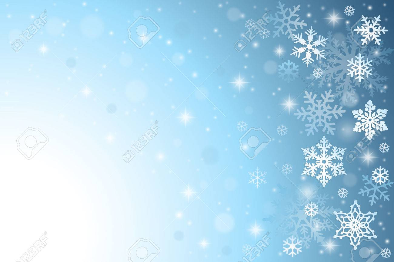 Abstract blue christmas background with snowflakes - 48719298