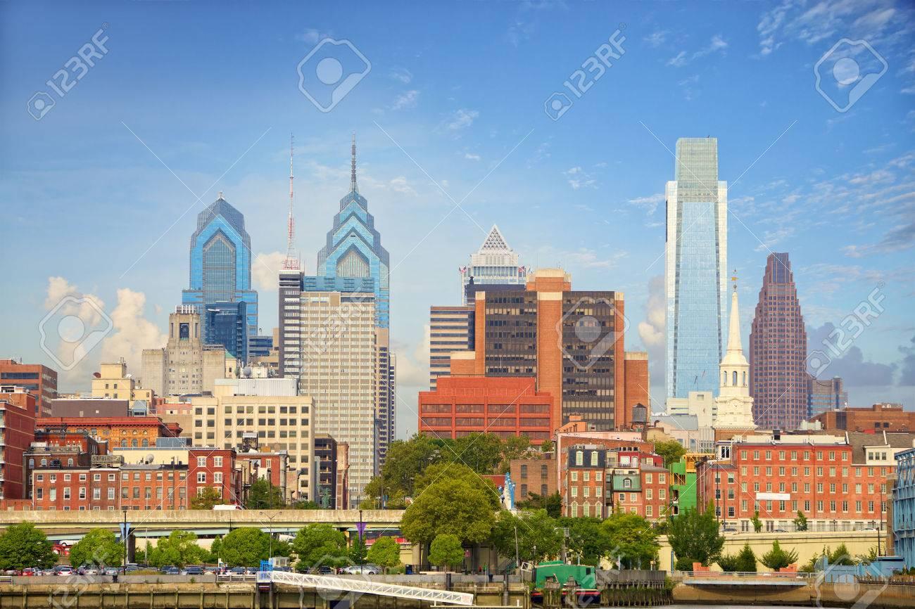 Philadelphia downtown cityscape, United States - 50822826