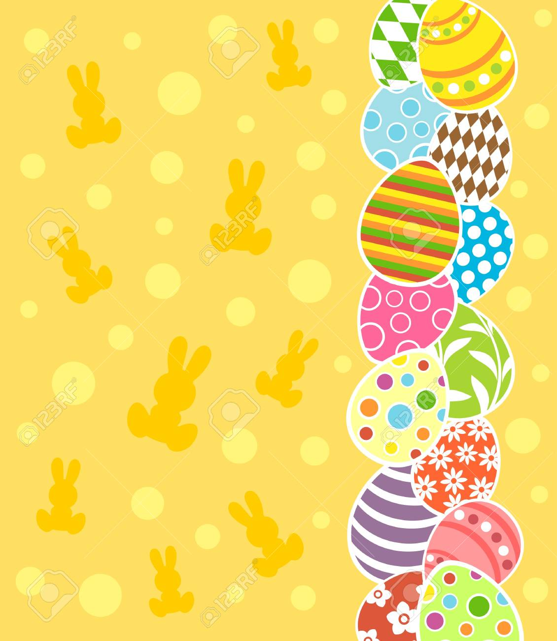 Easter background card vector illustration Stock Vector - 18518535