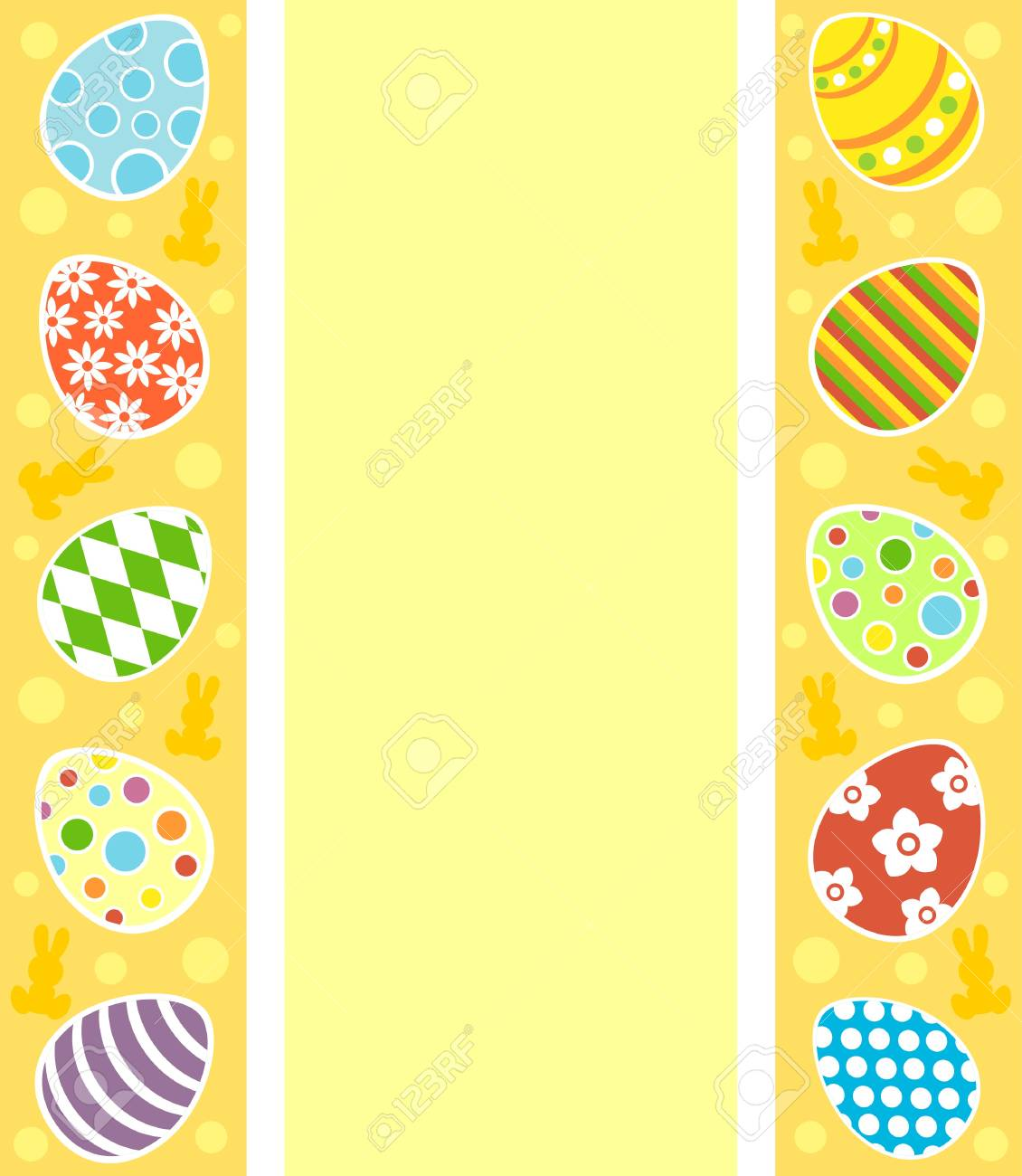 Easter background card vector illustration Stock Vector - 18518569