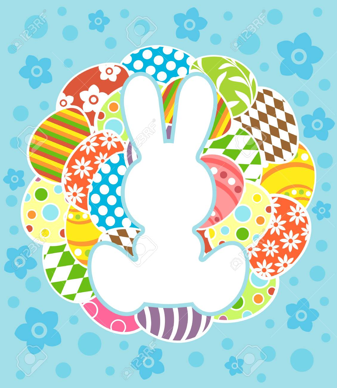 Easter background card vector illustration Stock Vector - 18518575