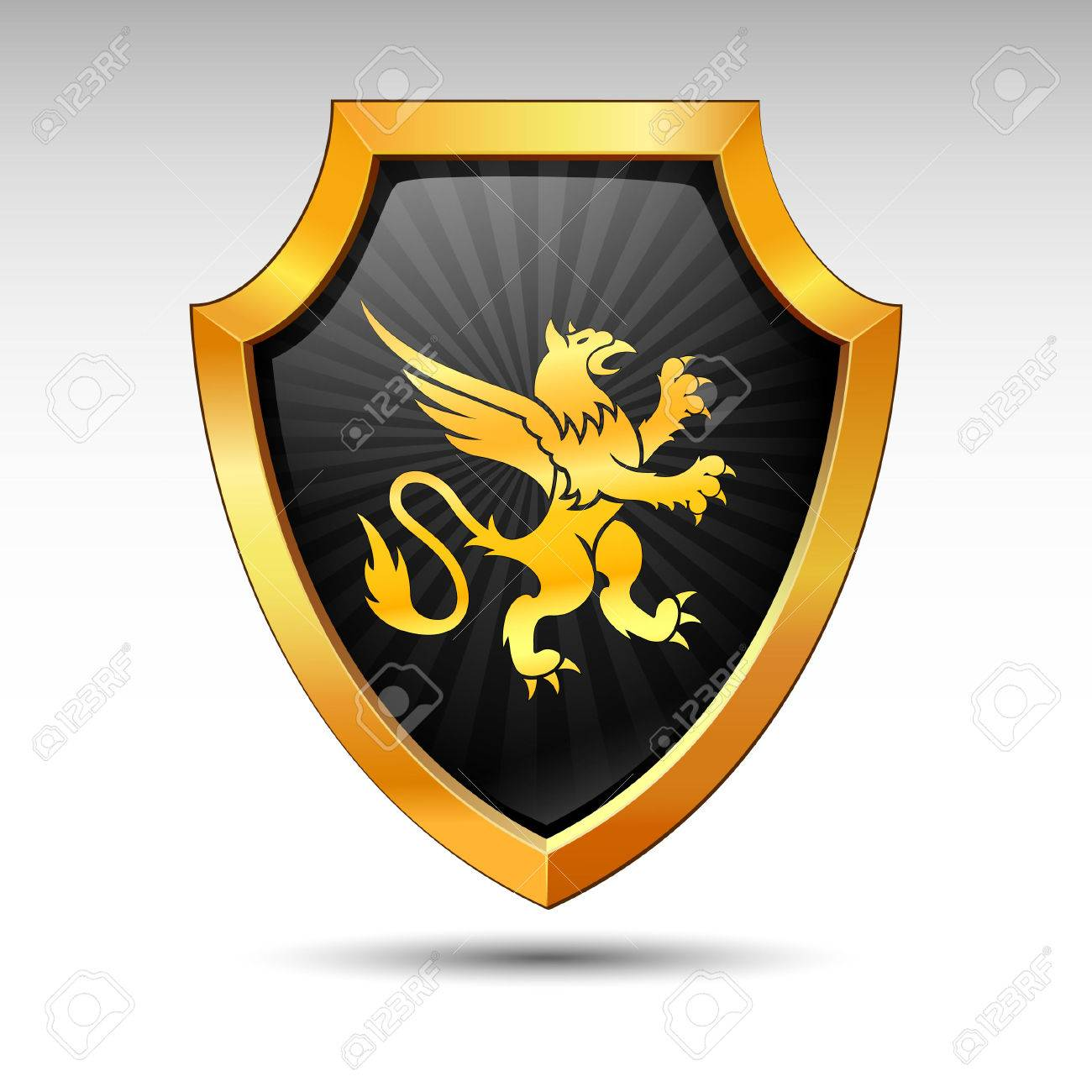 Shield on a white background. Stock Vector - 8146048