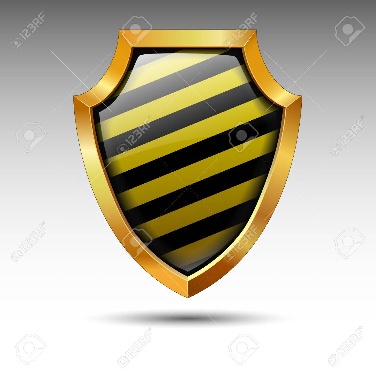 Shield on a white background. Stock Vector - 8169968
