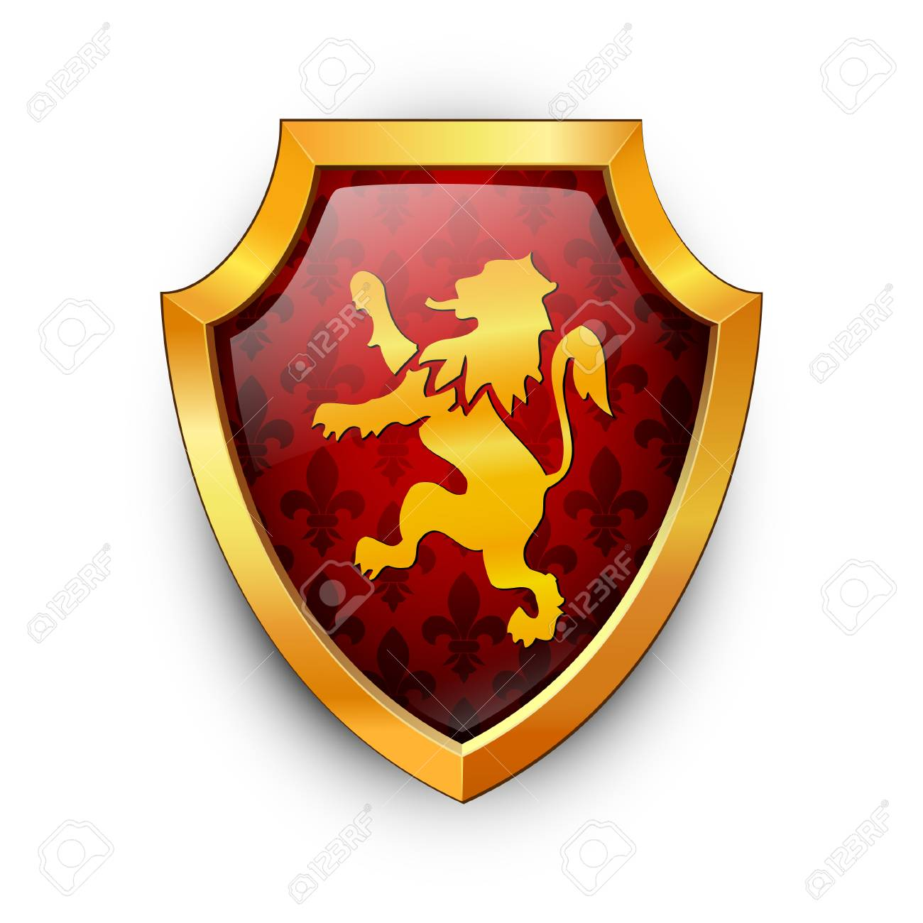 Shield on a white background. Stock Vector - 8325752
