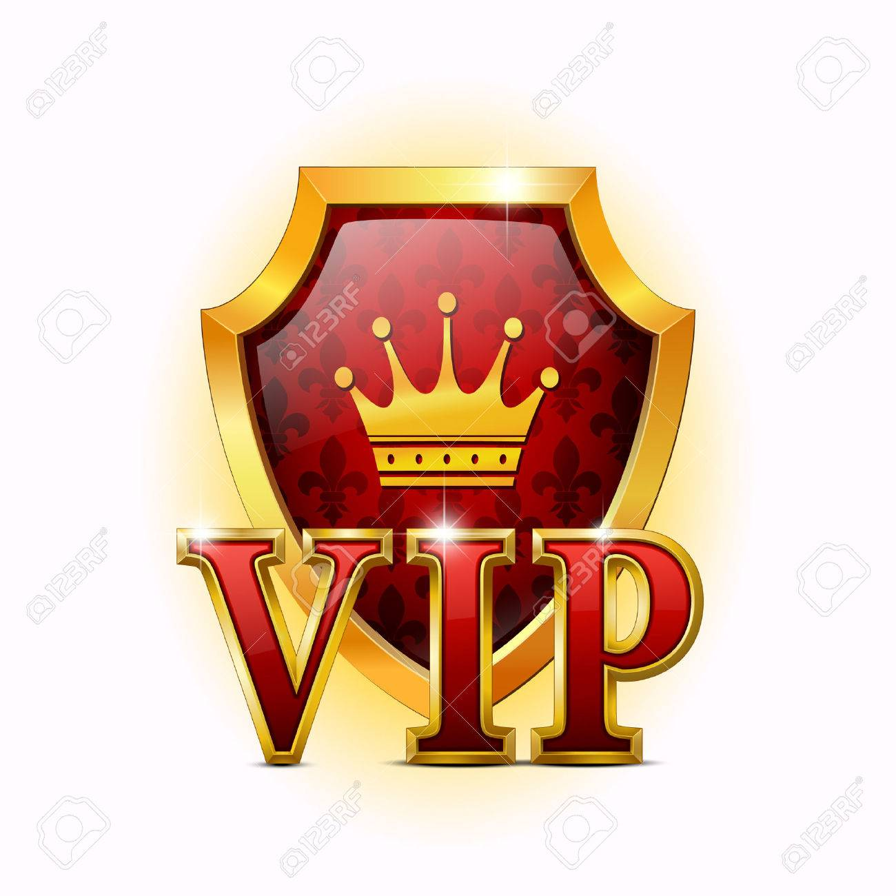 Shield on a white background. VIP Stock Vector - 8569851