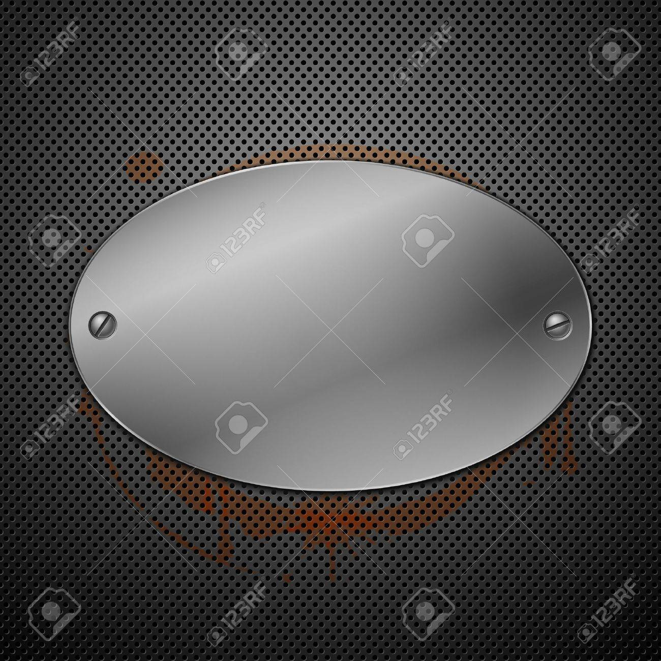 Metallic plaque for signage Stock Vector - 8766741