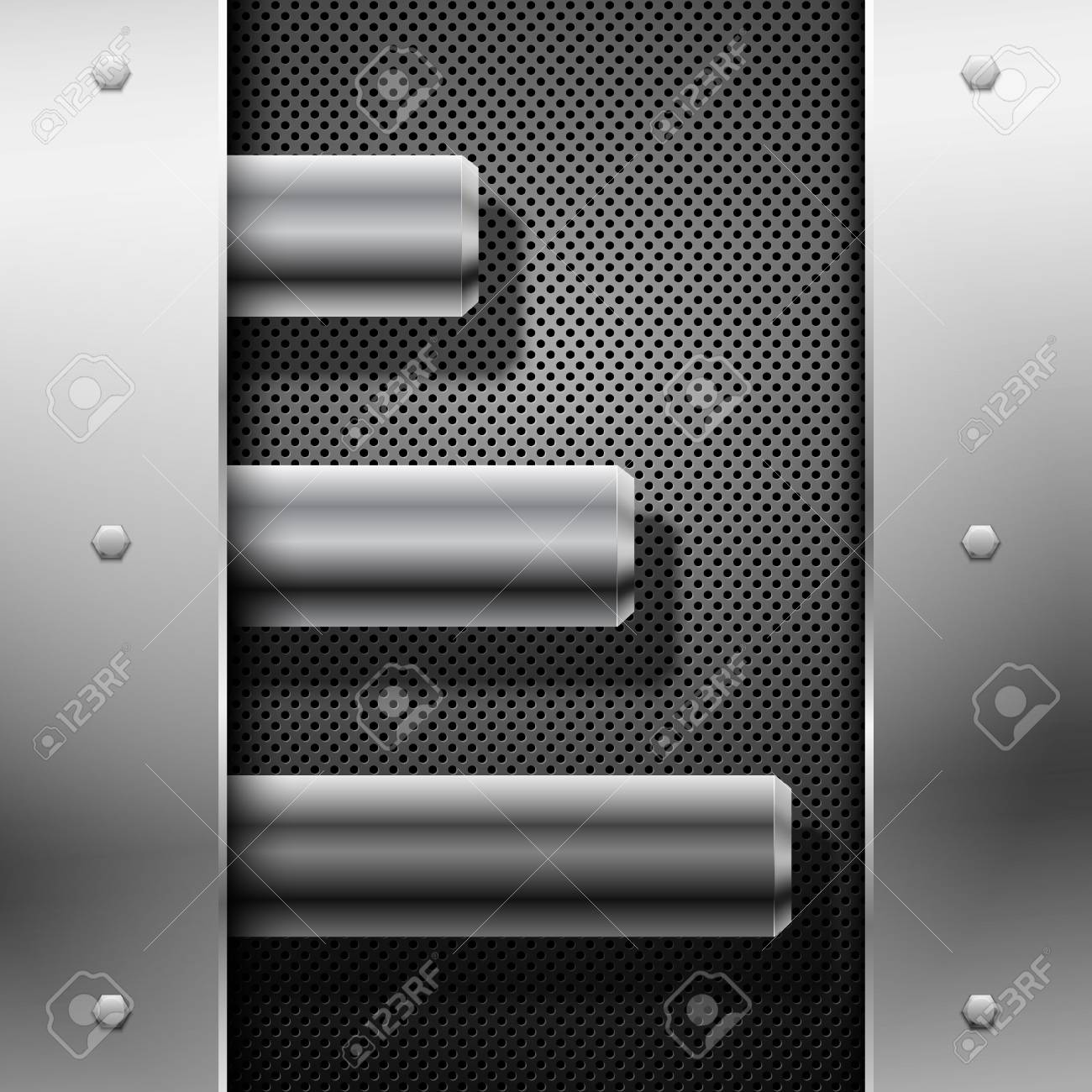 Abstract metal background. Vector illustration. Stock Vector - 9528812