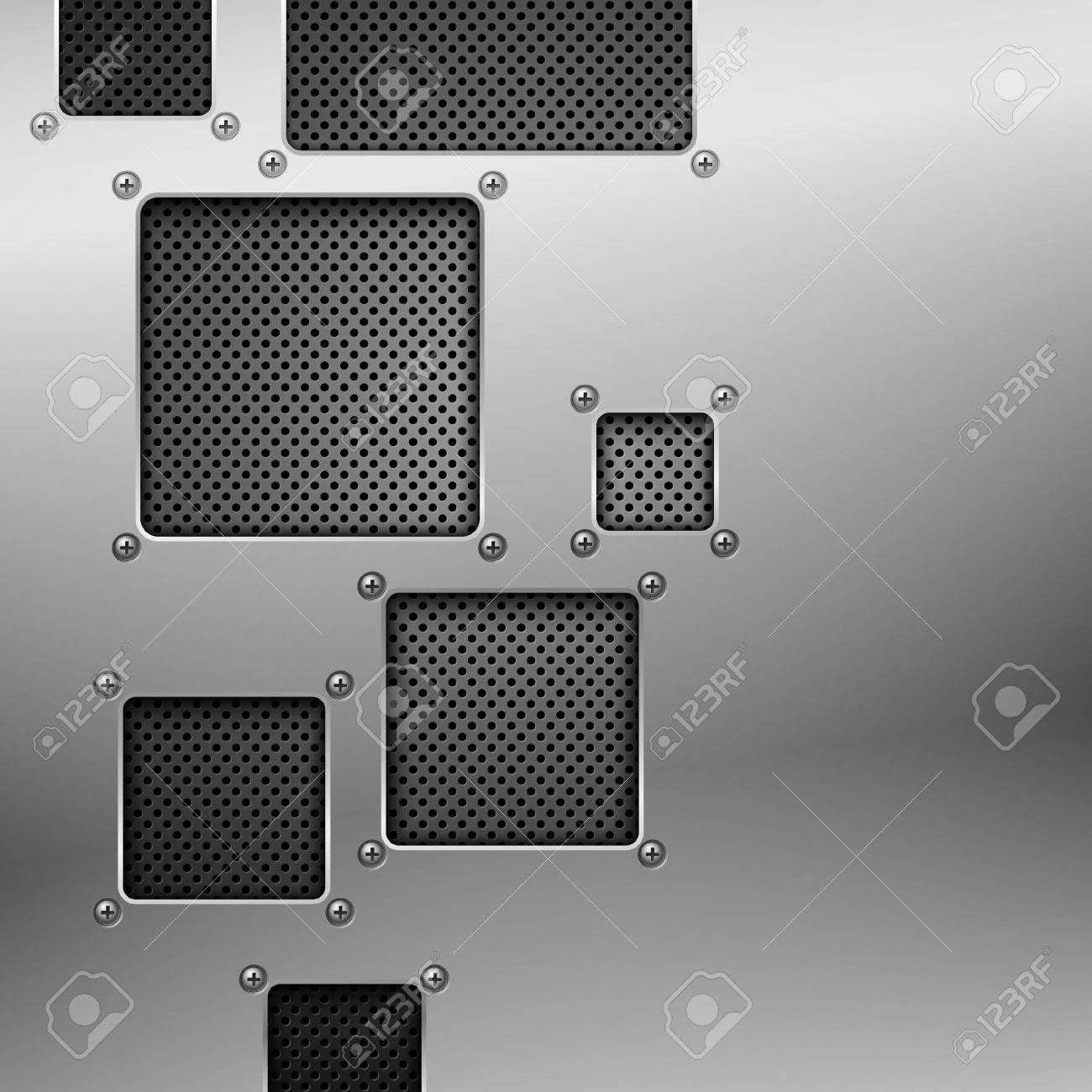 Abstract metal background. Vector illustration. Stock Vector - 9548270
