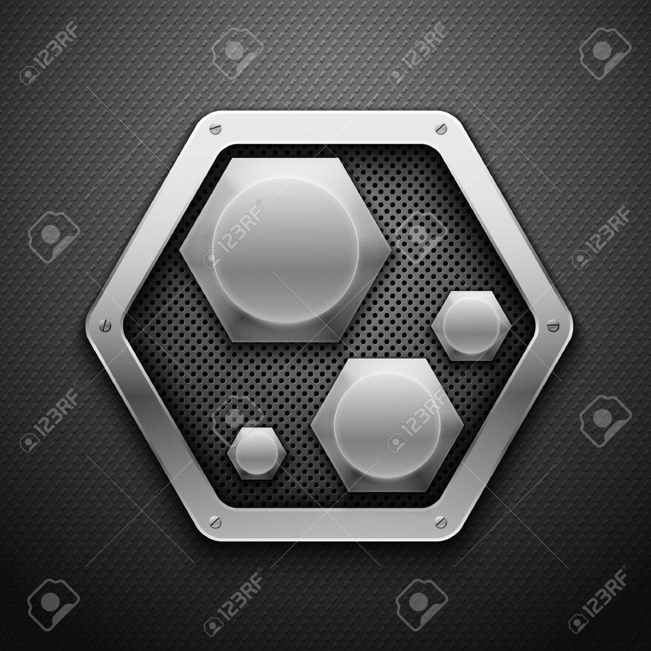 Abstract metal background illustration. Stock Vector - 9660116