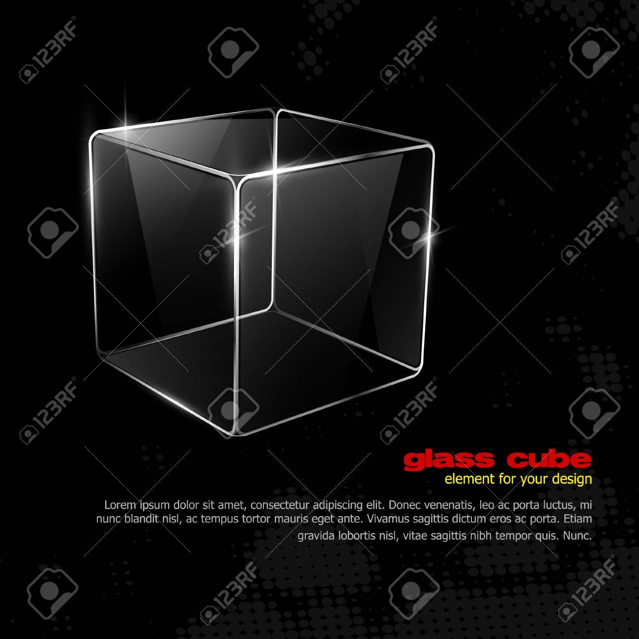 Glass cube. Element for your design. Eps10 Stock Vector - 10120984