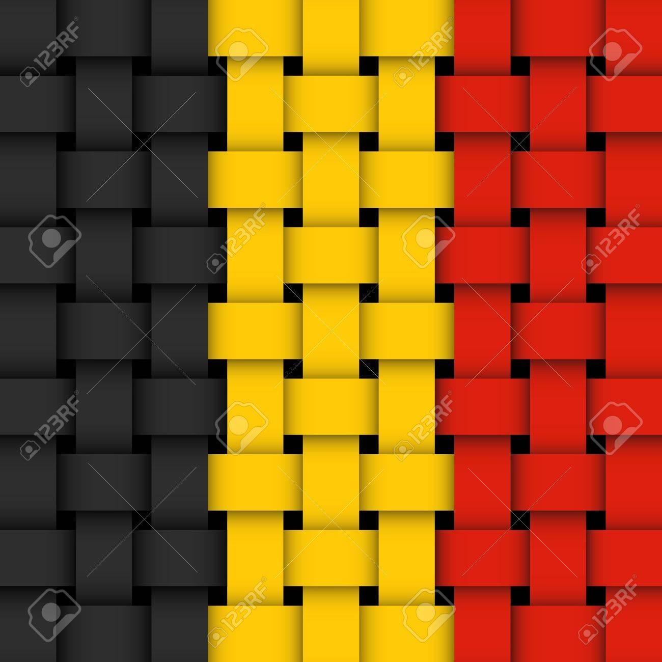 belgian flag  wicker Stock Vector - 17444151