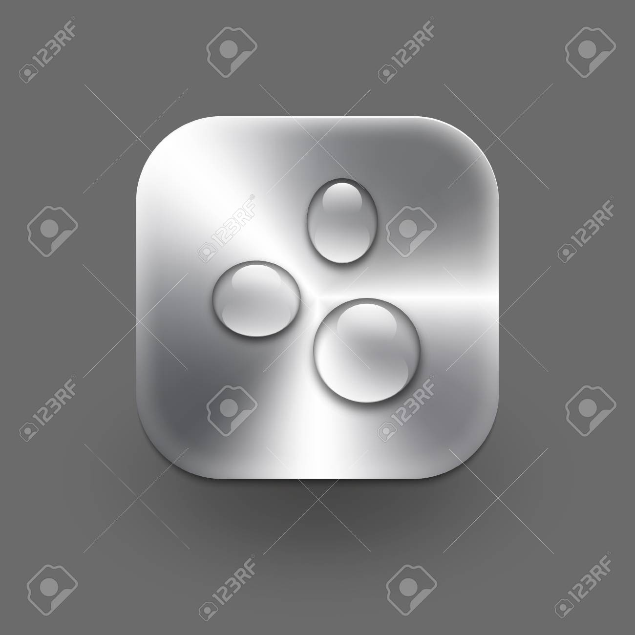 Metallic icon with drops   Vector eps10 Stock Vector - 19121613