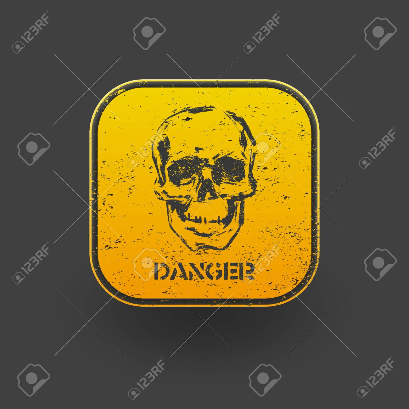 Skull icon  Vector  eps10 Stock Vector - 19681098
