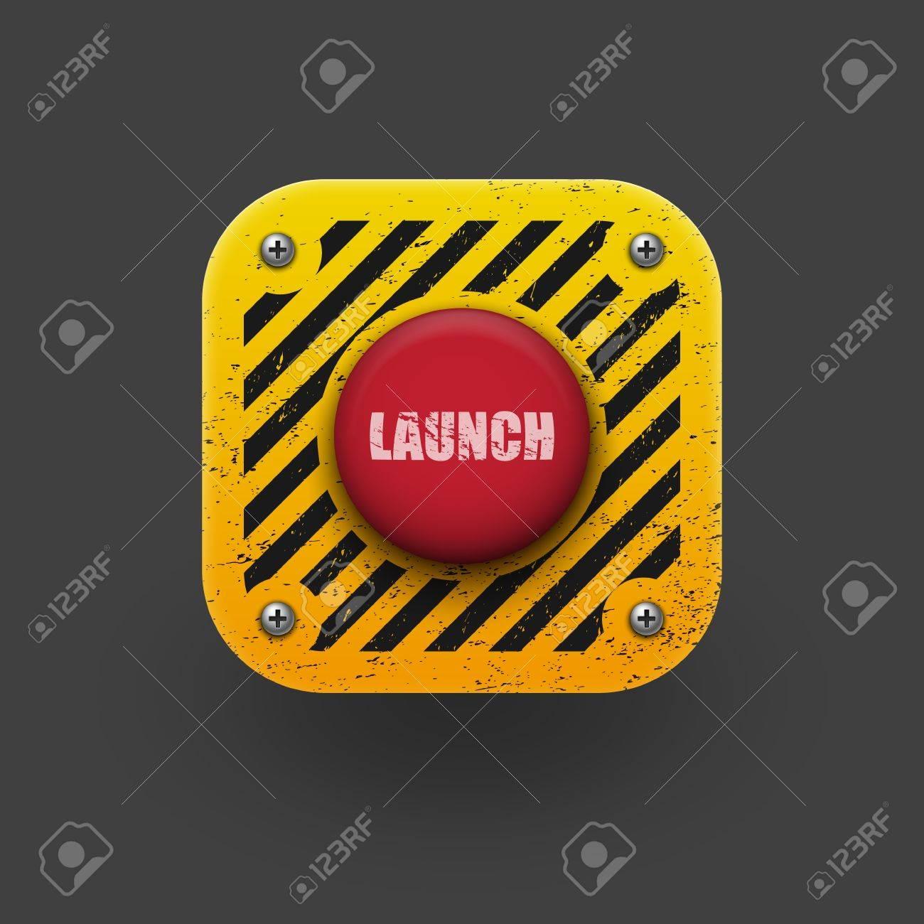 Launch button icon  Vector eps10 Stock Vector - 19681100