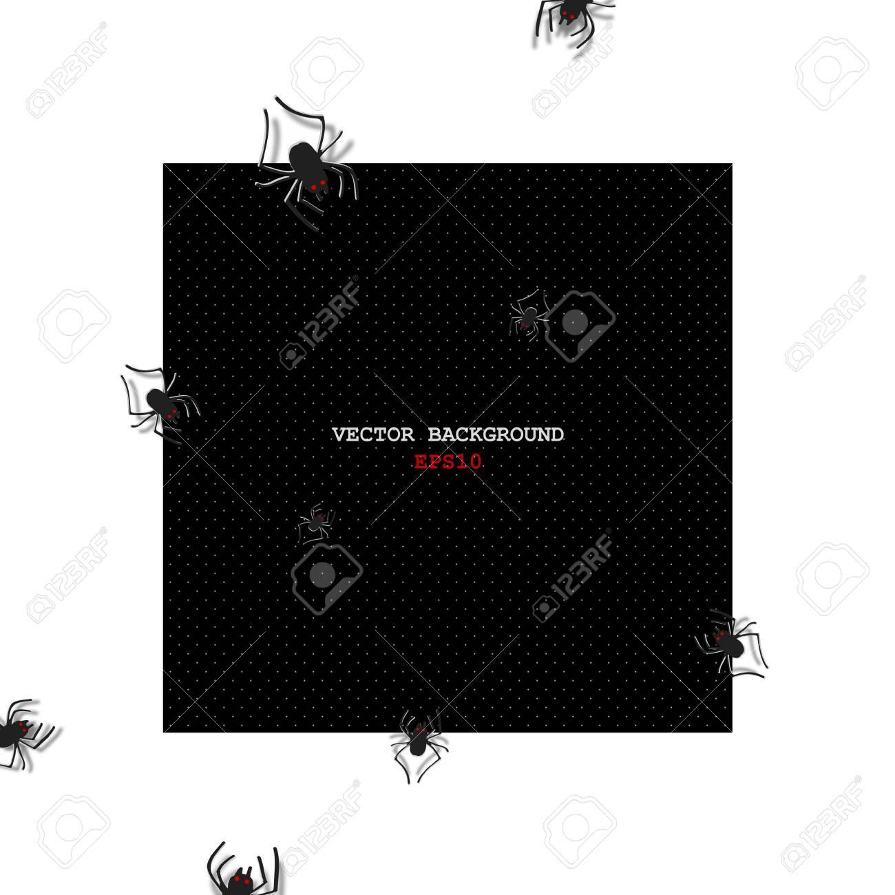 Spider. Vector background. Eps 10 Stock Vector - 20960942