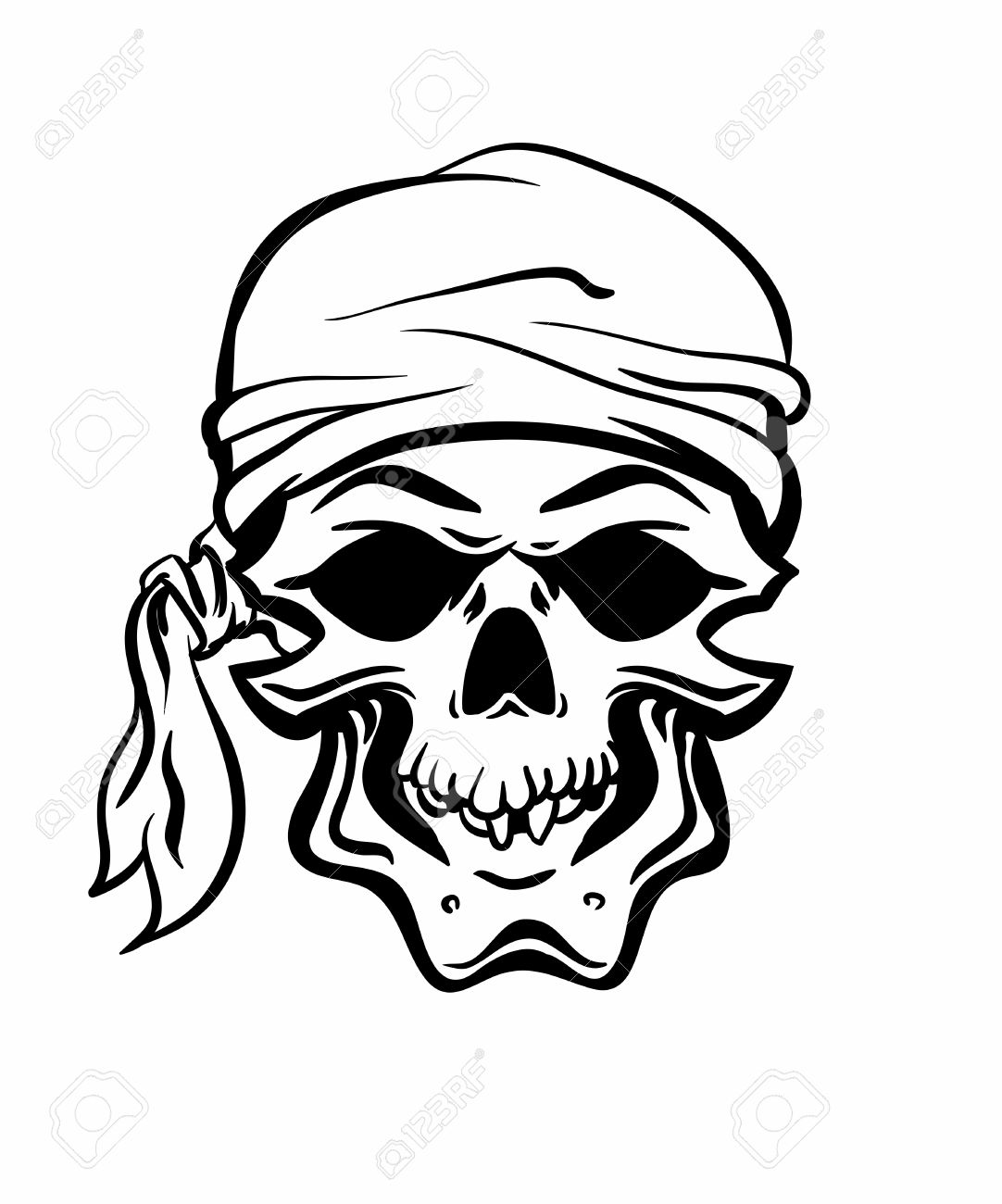 skallywag pirate skull vector eps8 royalty free cliparts vectors rh 123rf com skull vector art free skull vector images