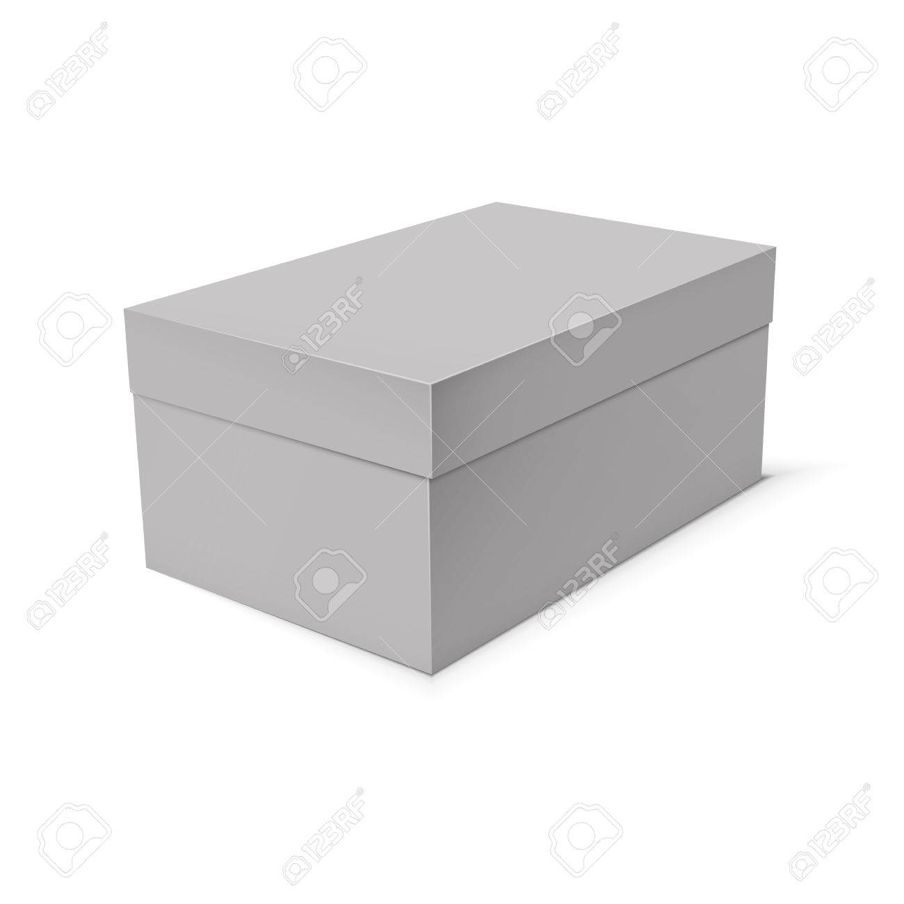 Blank Paper Or Cardboard Box Template On White Background Stock Vector