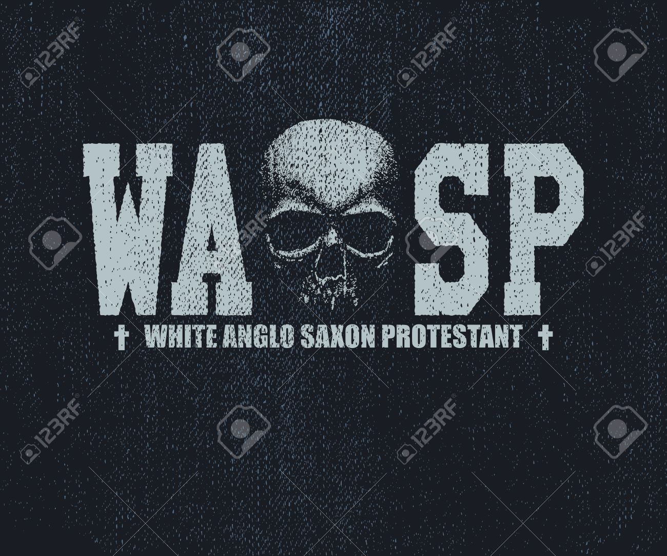 Wasp inscription with skull hand drawn white anglo saxon wasp inscription with skull hand drawn white anglo saxon protestant vector illustration buycottarizona Images
