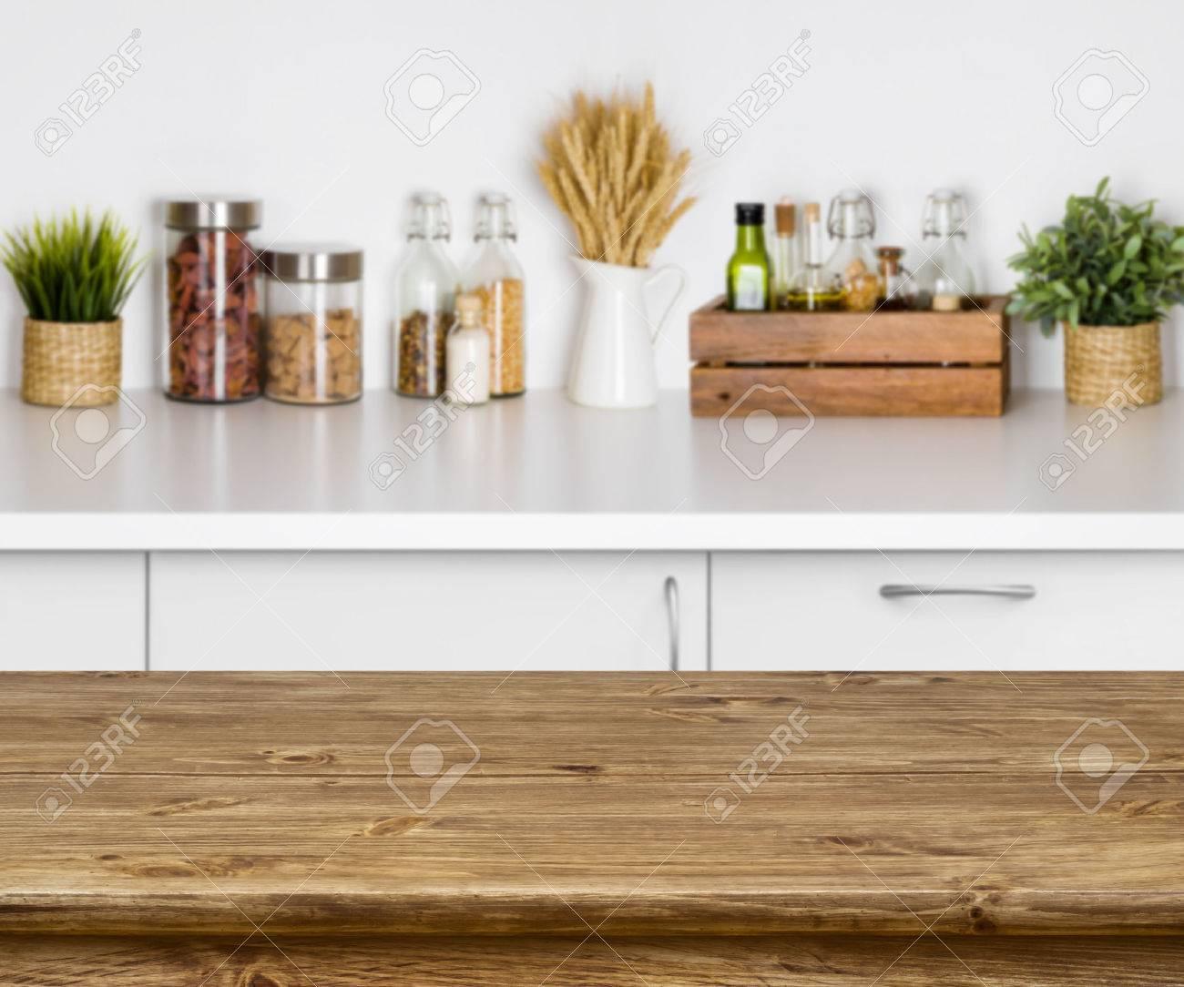 Table Banc De Cuisine table de texture en bois avec bokeh image de l'intérieur du banc de cuisine