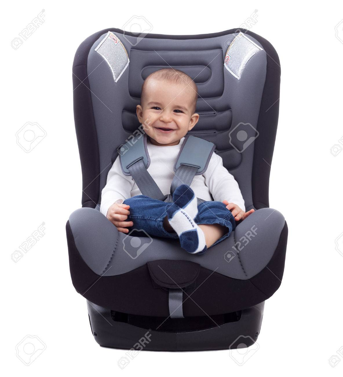 Infant Baby Child Sitting In A Car Seat
