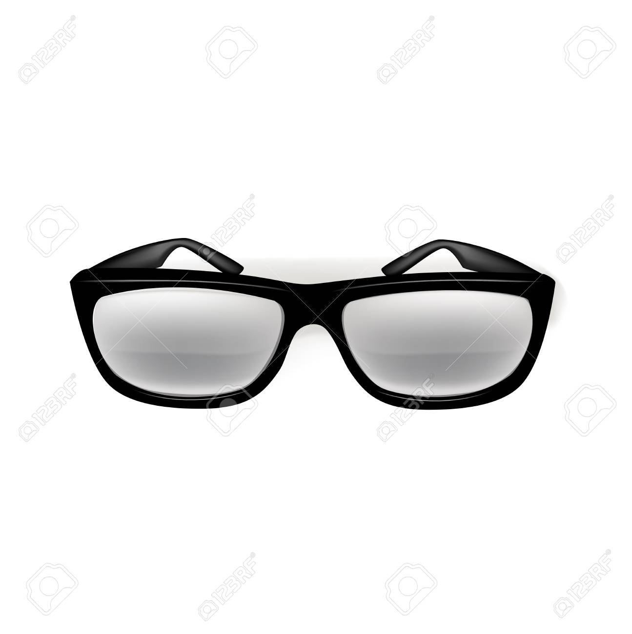 glasses isolated on white background Stock Vector - 20464159