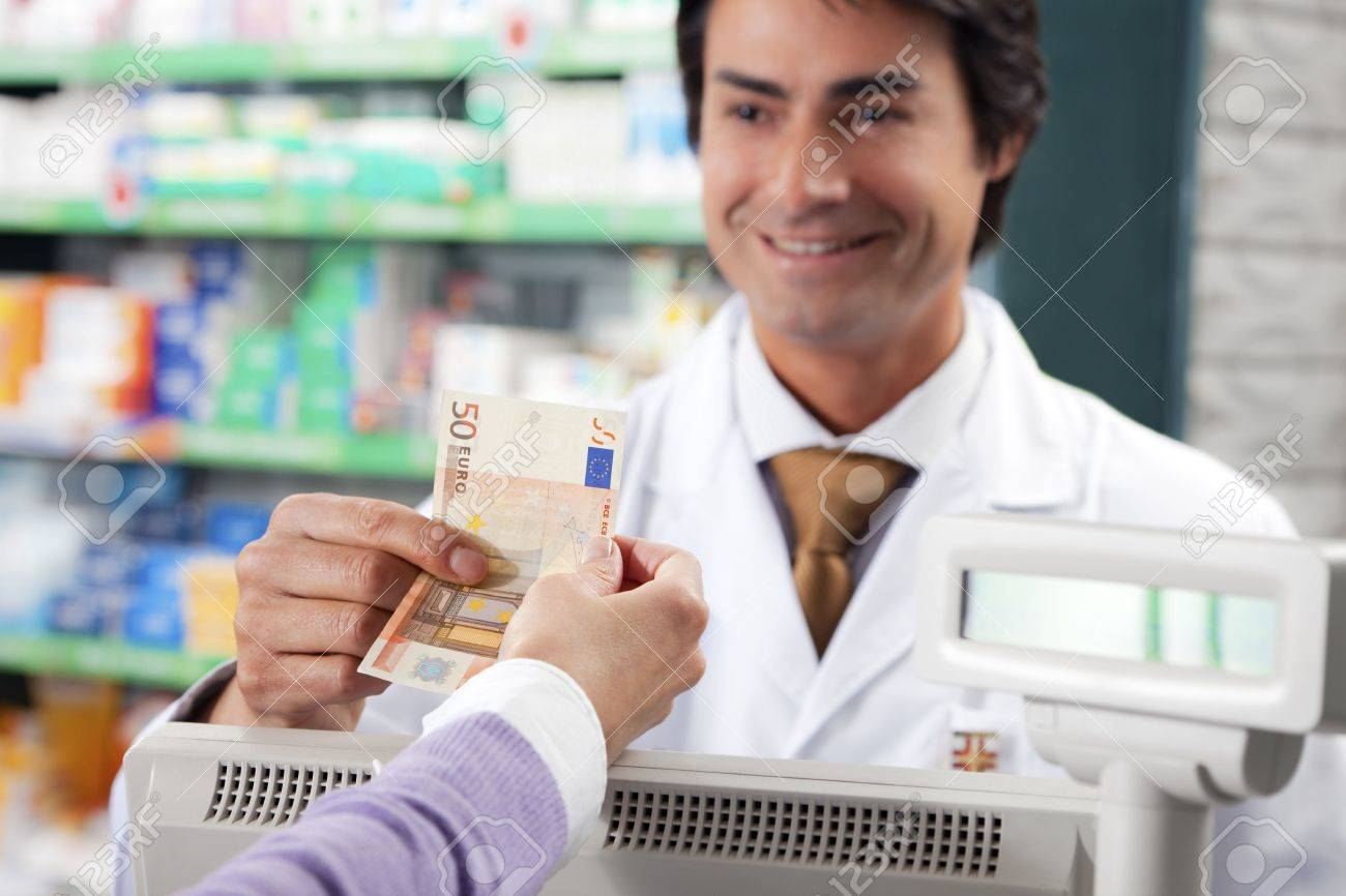 cropped view of woman shopping in pharmacy. Copy space Stock Photo - 4642885