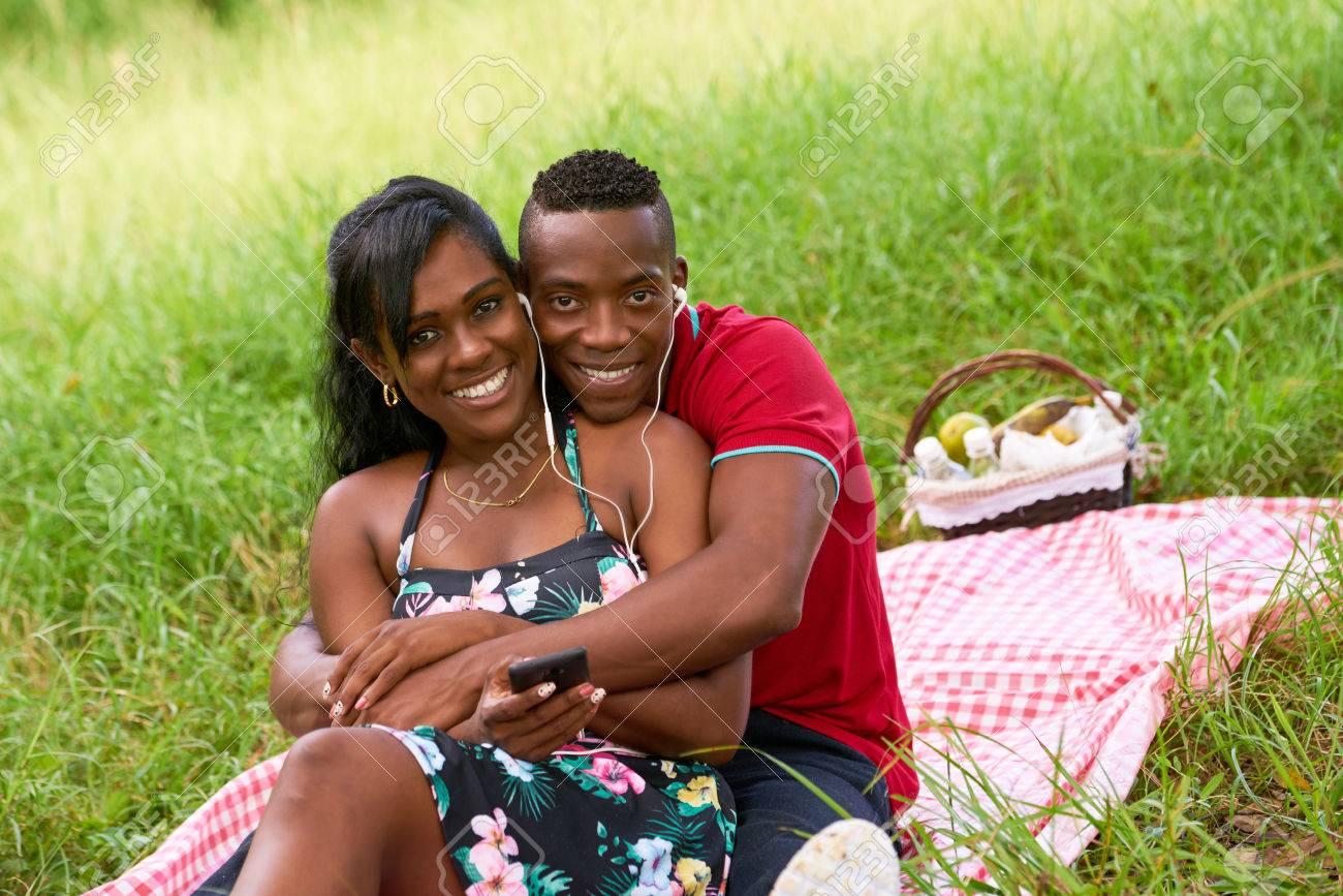 Macht Liebe Paar Schwarzes Paar macht