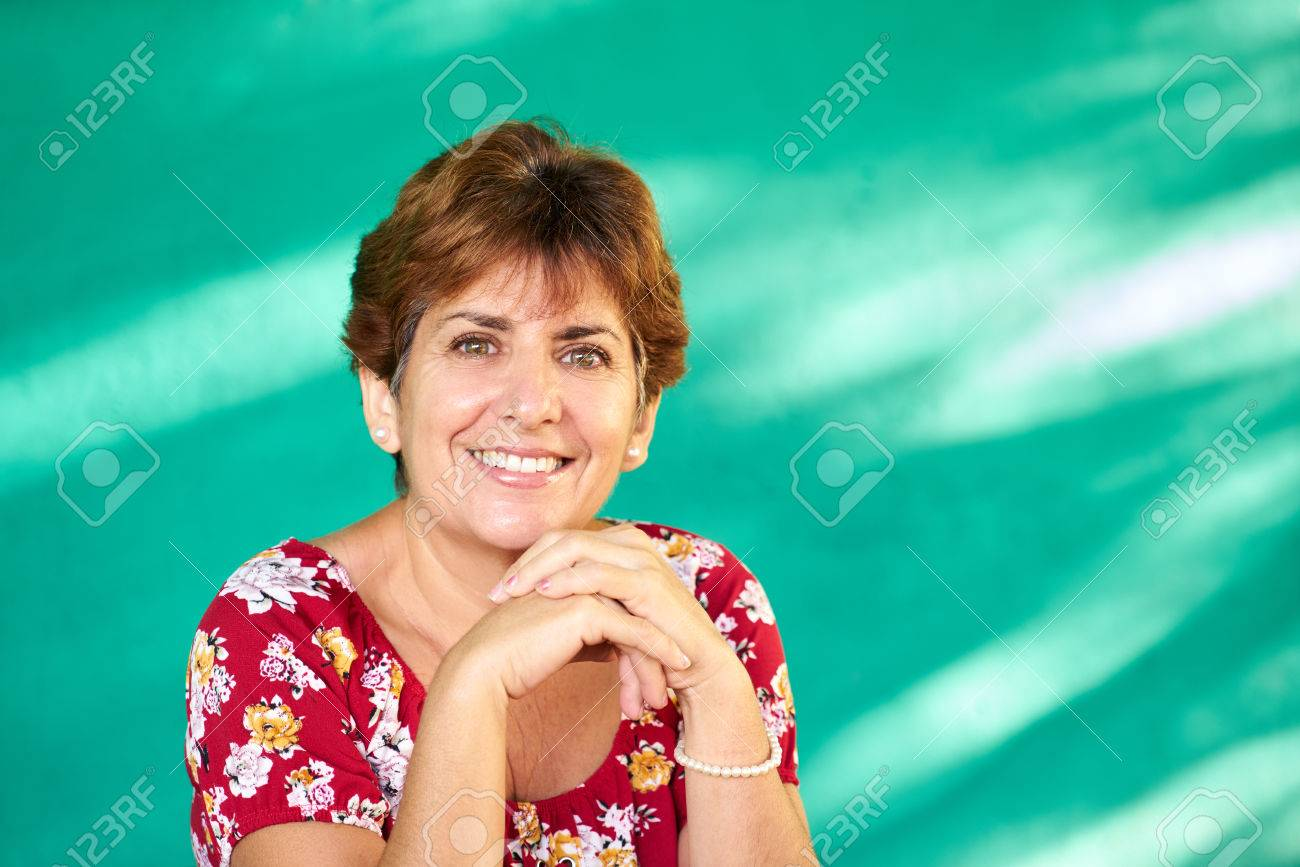 Cuban people and emotions, portrait of latina lady laughing and looking at camera. Happy hispanic woman from Havana, Cuba smiling - 67528745