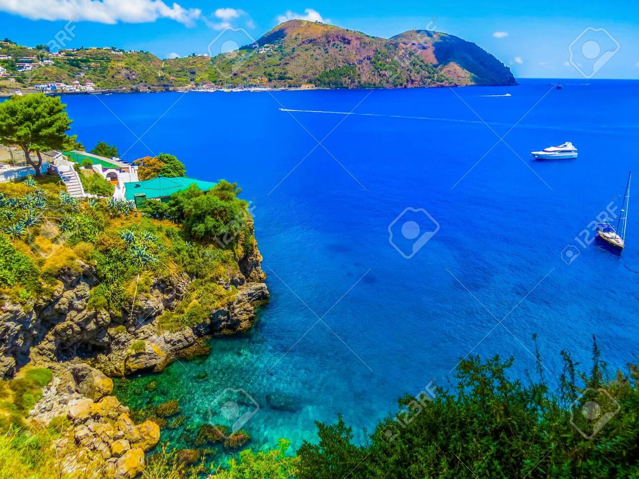 View of the Lipari Island, Italy - 144783939