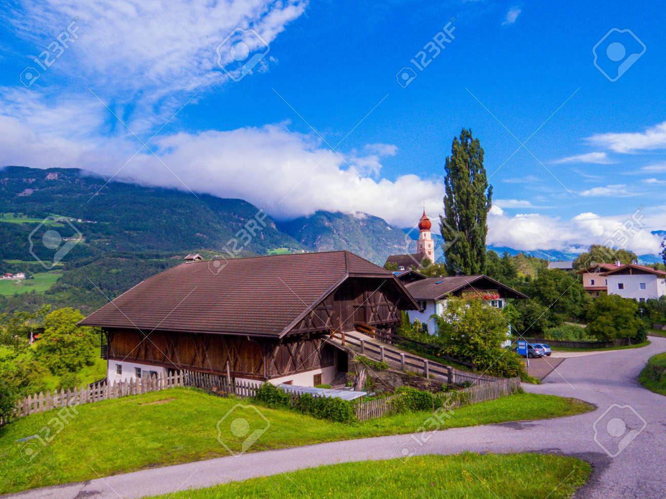 Sant'Osvaldo (St. Oswald), Castelrotto (Kastelruth), Dolomites, north Italy - 151623306