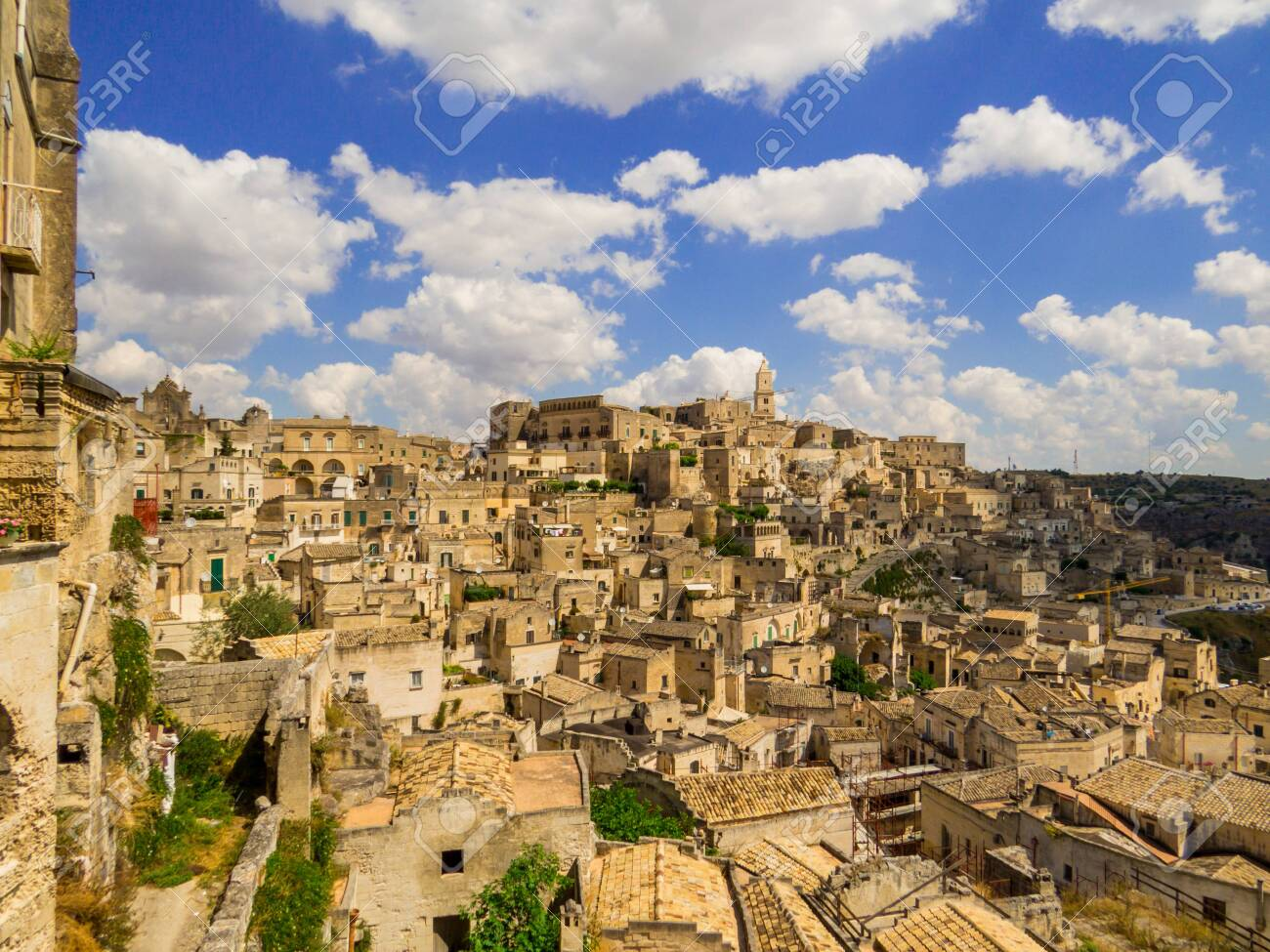 Summer view of the old town of Matera, Italy - 151425808