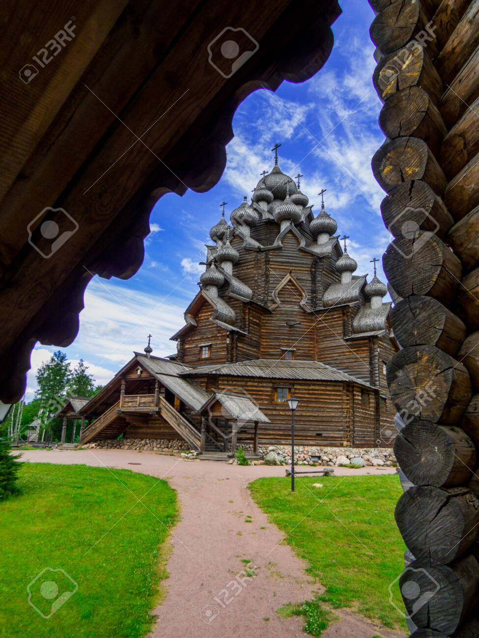 View of the wooden Church of the Intercession of the Holy Virgin in St. Petersburg, Russia - 151391705