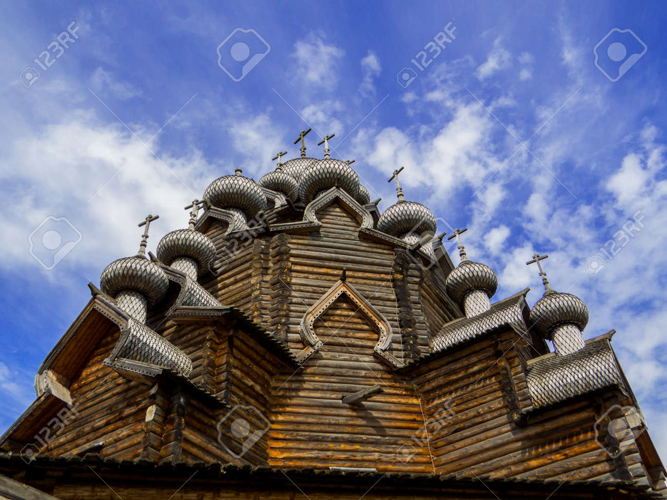 View of the wooden Church of the Intercession of the Holy Virgin in St. Petersburg, Russia - 151391706