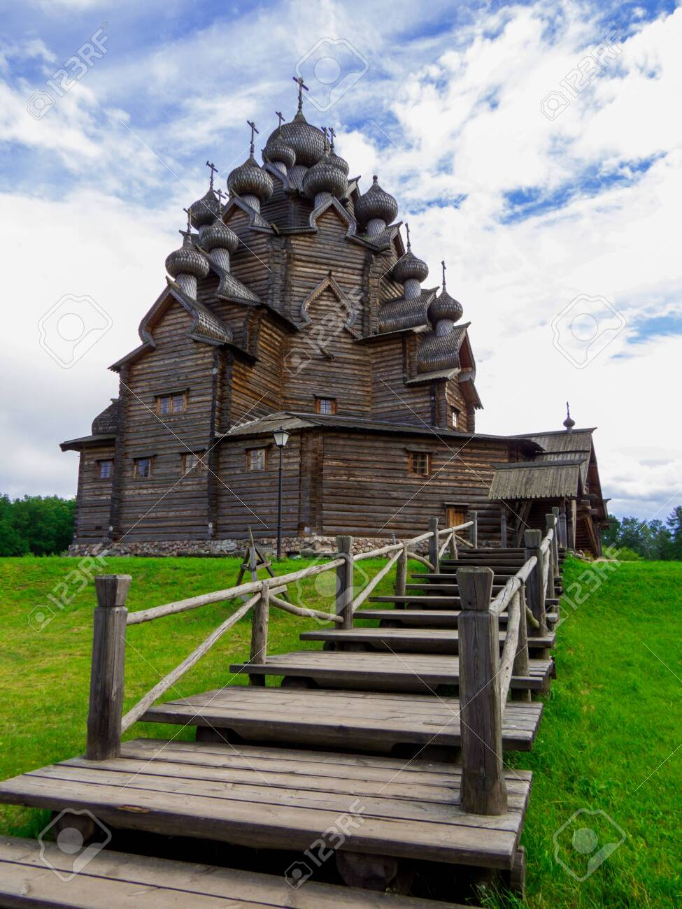 View of the wooden Church of the Intercession of the Holy Virgin in St. Petersburg, Russia - 151391730