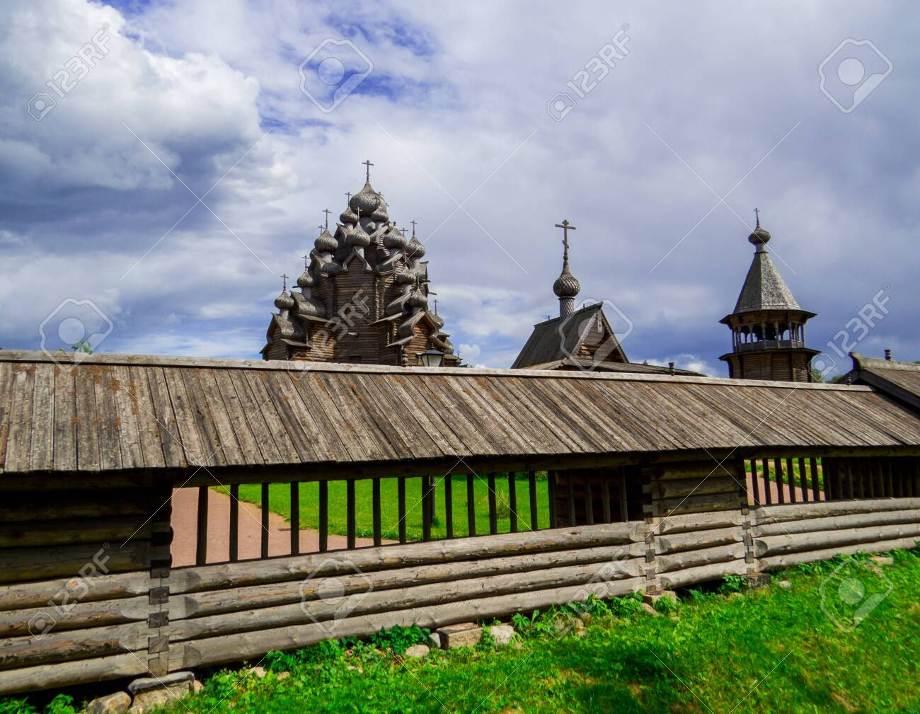 View of the wooden Church of the Intercession of the Holy Virgin in St. Petersburg, Russia - 151391743
